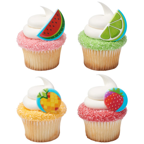 Cupcakes with edible image embellishments.