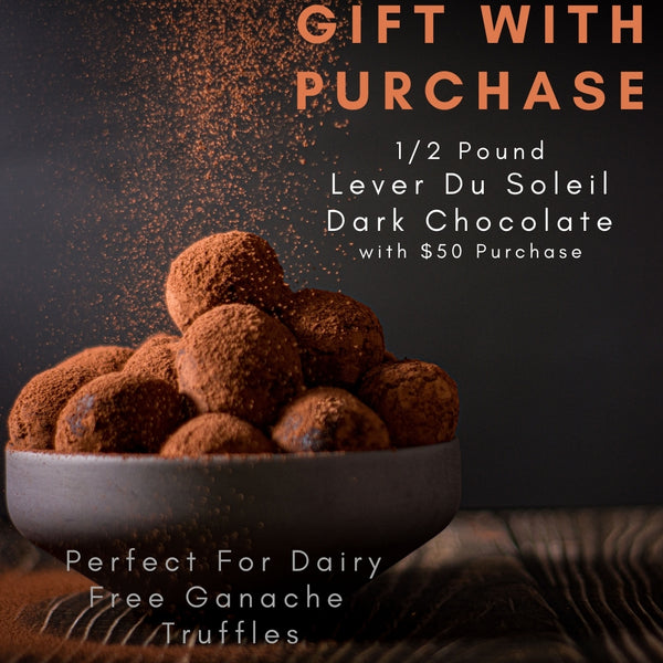 Gift with Purchase .5 pounds Lever Du Soleil Chocolate with $50 minimum purchase