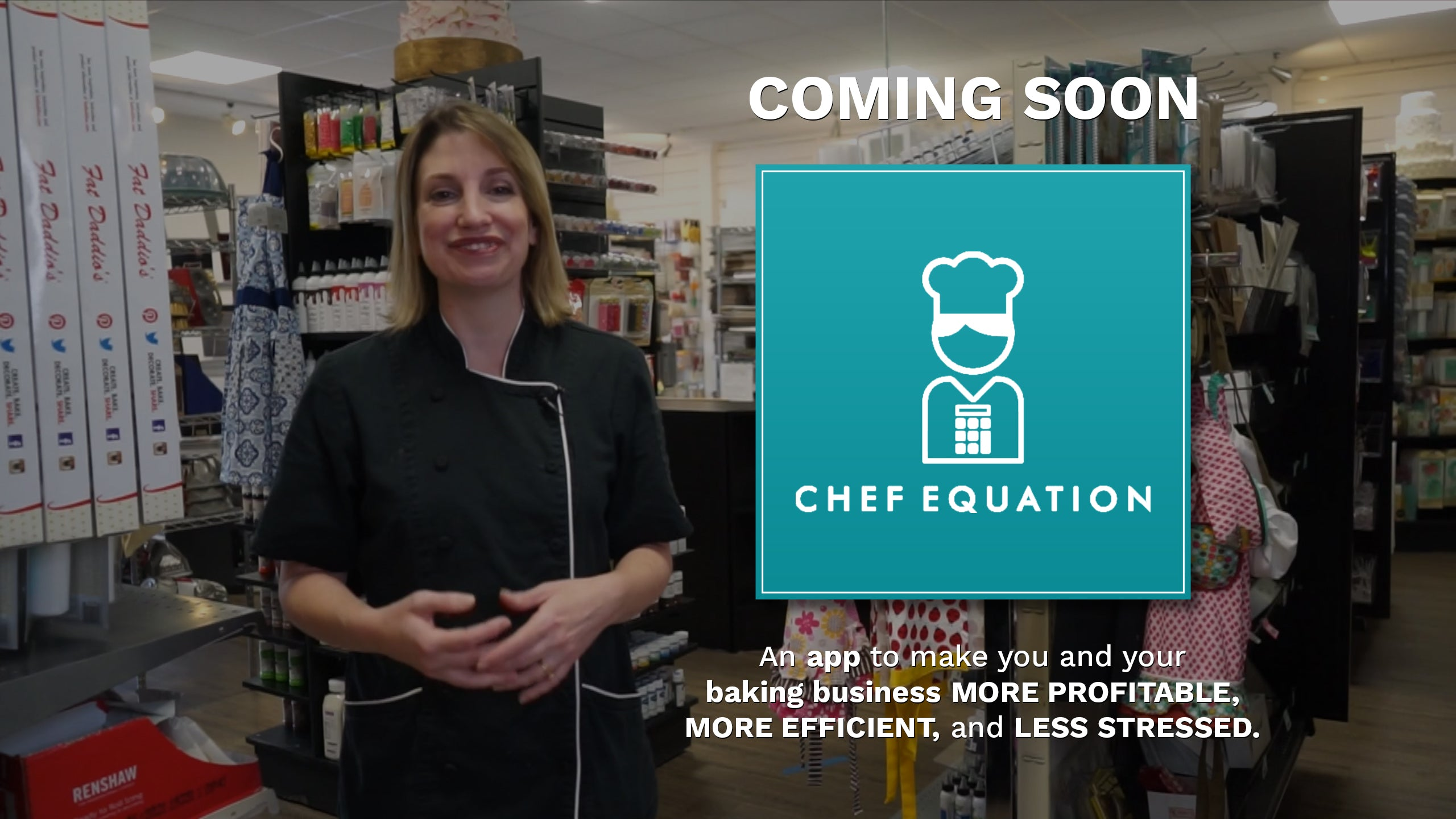 Coming Soon: Chef Equation. An app to make you and your baking business more profitable, more efficient, and less stressful.