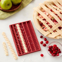 Pie Crust Silicone Mold for Decorative Edges and Lattice Crusts the Easy Way