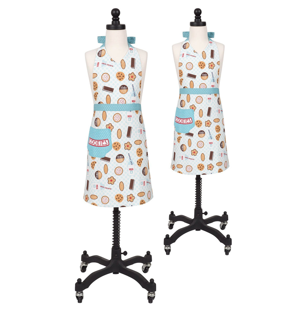 Spend Quality Time Together While Baking Cookies and then Enjoy Them with a Big Glass of Milk, While Wearing Matching Aprons.