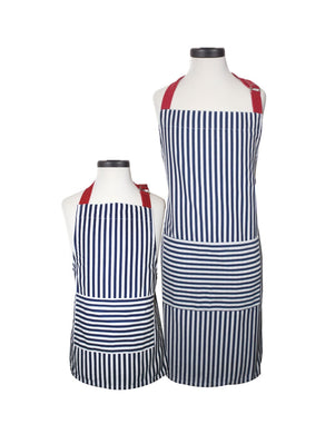 Navy Stripes are Always a Classic Apron Choice for Mom and Me, Siblings, and even Dad and Me!