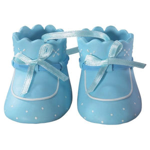 "Baby Booties - Blue Themed Decoset® for 1/4 Sheet Cake or 8"" Round Cake - Art Is In Cakes, Bakery & SupplyThemed CakesDefault Title"