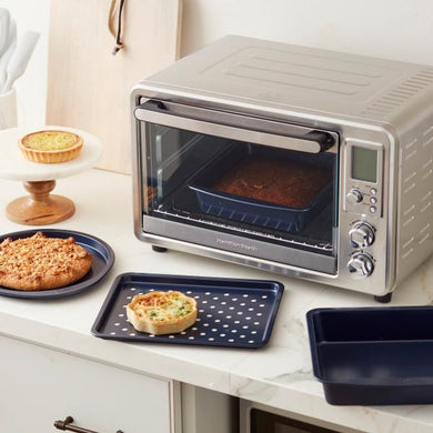 Bakeware 4pc Toaster Oven Baking Set Diamond-Infused Non-Stick Navy Blue - Art Is In Cakes, Bakery & SupplyBakeware & PansDefault Title