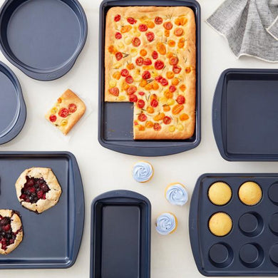 Bakeware 7pc Essentials Set Diamond-Infused Non-Stick Navy Blue Baking Set - Art Is In Cakes, Bakery & SupplyBakeware & PansDefault Title