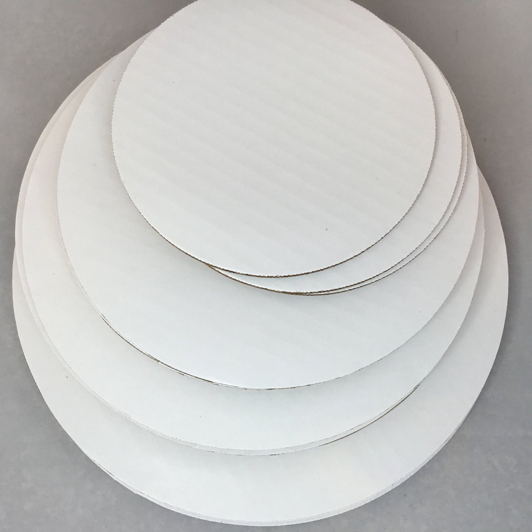 Cake Boards, Round, in Grease Resistant Corrugated Cardboard - Art Is In Cakes, Bakery & SupplyCake Boards6