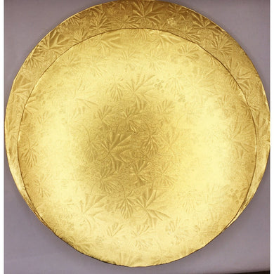 Cake Drum Gold Foil Round Board, 1/2 inch thick, Lightly Textured - Art Is In Cakes, Bakery & SupplyCake Boards10