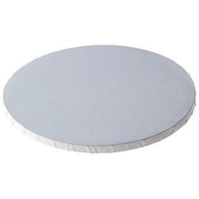 Cake Drum White Foil Round Board, 1/2 inch thick, Lightly Textured - Art Is In Cakes, Bakery & SupplyCake Boards10