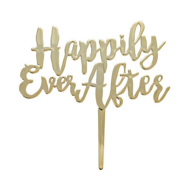 Cake Topper Happily Ever After, Gold Pick - Art Is In Cakes, Bakery & SupplyThemed CakesDefault Title