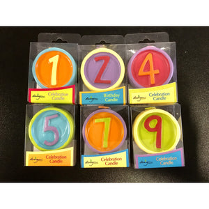 Candles Featuring Numbers in Circles and Fun Colors - Art Is In Cakes, Bakery & SupplyCandles1 one