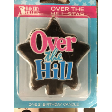 Candles Over the Hill, Star Shaped Black Candle - Art Is In Cakes, Bakery & SupplyCandlesDefault Title