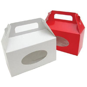 Candy Bakery Boxes in White Card Board, One Piece for Easy Assembly - Art Is In Cakes, Bakery & SupplyBoxes and Bags2 pound Gable box (6 3/8 x 3 x 4 inches)
