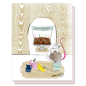 Card - Birthday Baker Mouse - Art Is In Cakes, Bakery & SupplyStationeryDefault Title