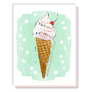Card - Birthday Ice Cream Cone - Art Is In Cakes, Bakery & SupplyStationeryDefault Title