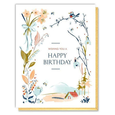 Card - Birthday Vignette Botanicals - Art Is In Cakes, Bakery & SupplyStationeryDefault Title