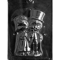 Chocolate Mold Bride and Groom Vintage Couple 3D Figurine Mold - Art Is In Cakes, Bakery & SupplyChocolate MoldFront