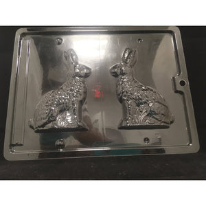 "Chocolate Mold Bunny Rabbit 3D Hare 3""x 5"" - Art Is In Cakes, Bakery & SupplyChocolate MoldDefault Title"