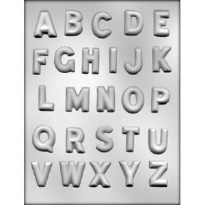Chocolate Mold Letters Classic Alphabet - Art Is In Cakes, Bakery & SupplyChocolate MoldDefault Title
