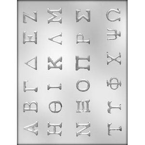 Chocolate Mold Letters Greek Alphabet - Art Is In Cakes, Bakery & SupplyChocolate MoldDefault Title