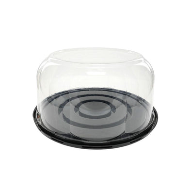 This clear domed container is perfect for showing off your cakes and other baked goods and keep them protected during transit.