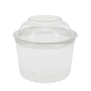 Clear Hinged Bundtlette Container for Mini Bundt Cakes, Cupcakes, Cinnamon Rolls and more - Art Is In Cakes, Bakery & SupplyBoxes and BagsDefault Title