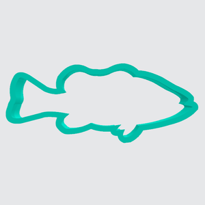 Cookie Cutter Fish Bass Side View - Art Is In Cakes, Bakery & SupplyCookie Cutter2in