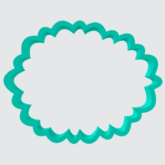 Cookie Cutter Flower Frilly - Art Is In Cakes, Bakery & SupplyCookie Cutter2in
