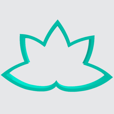 Cookie Cutter Flower Lotus - Art Is In Cakes, Bakery & SupplyCookie Cutter2in
