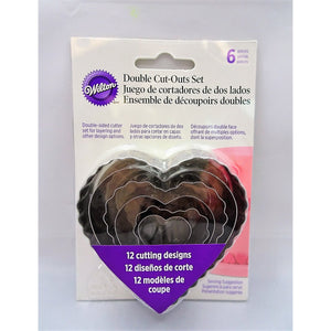 Cookie Cutter Heart Double Cut-Outs Set 6 Piece Set - Art Is In Cakes, Bakery & SupplyCookie CutterDefault Title