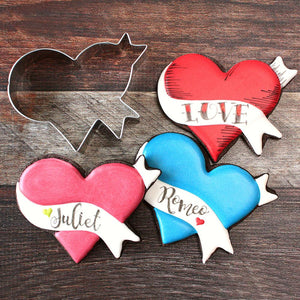 Cookie Cutter Heart LilaLoa's Heart with Banner 4 in - Art Is In Cakes, Bakery & SupplyCookie CutterDefault Title
