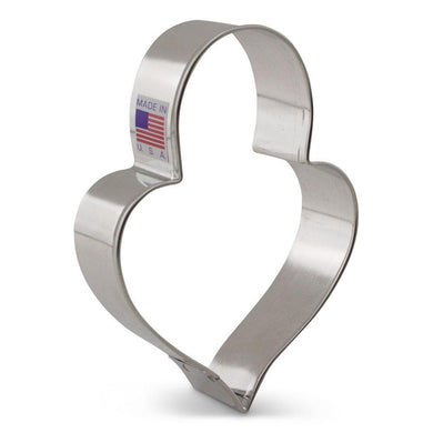 Cookie Cutter Heart LilaLoa's Heart with Padlock 4 1/4 in - Art Is In Cakes, Bakery & SupplyCookie CutterDefault Title