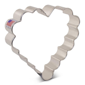 Cookie Cutter Heart Scalloped Edge 4 inches - Art Is In Cakes, Bakery & SupplyCookie CutterDefault Title