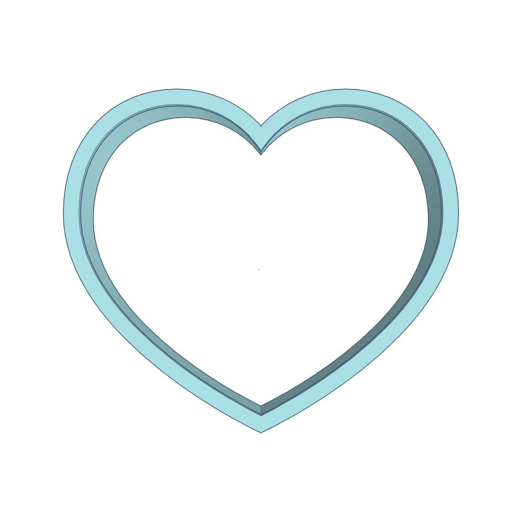 Cookie Cutter Heart Wide 5in - Art Is In Cakes, Bakery & SupplyCookie Cutter5in