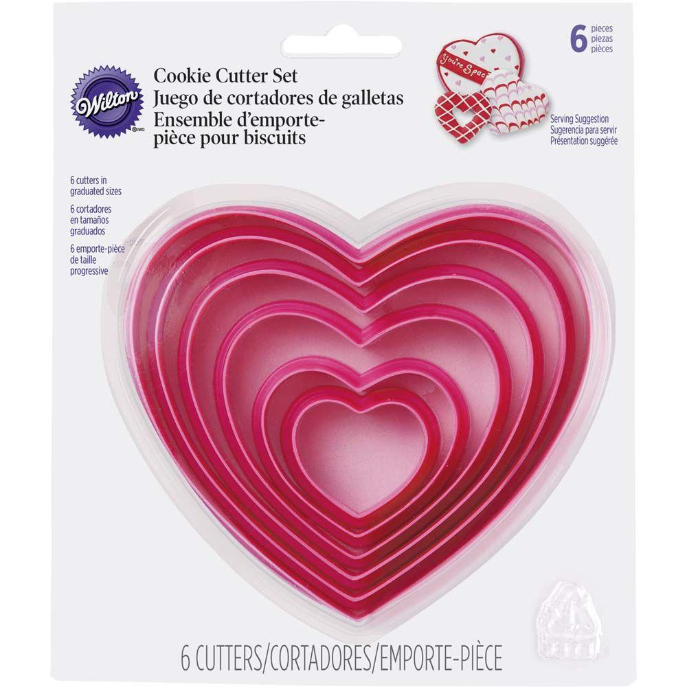 Cookie Cutter Hearts 6pc Set Nested - Art Is In Cakes, Bakery & SupplyCookie CutterDefault Title