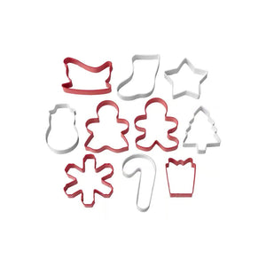 Cookie Cutter Holiday Set of 10 in a Tube - Art Is In Cakes, Bakery & SupplyCookie CutterDefault Title