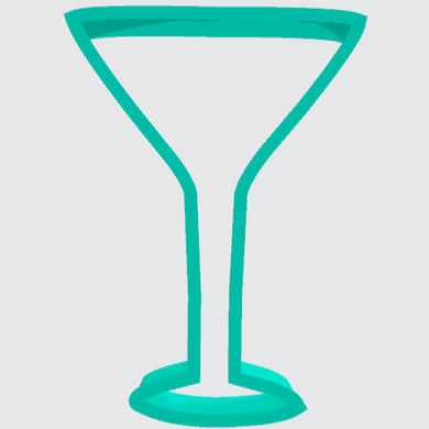 Cookie Cutter Martini Glass - Art Is In Cakes, Bakery & SupplyCookie Cutter2in