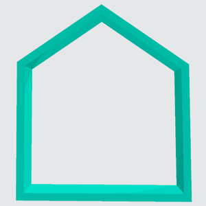 Cookie Cutter Shape Pentagon - Art Is In Cakes, Bakery & SupplyCookie Cutter3.5in