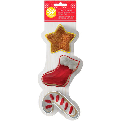 Cookie Cutter Star, Stocking, Candy Cane Set - Art Is In Cakes, Bakery & SupplyCookie CutterDefault Title