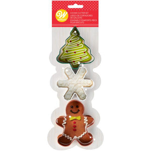 Cookie Cutter Tree, Snowflake, Gingerbread Man Set - Art Is In Cakes, Bakery & SupplyCookie CutterDefault Title