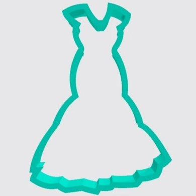 Cookie Cutter Wedding Dress Mermaid Flair Gown - Art Is In Cakes, Bakery & SupplyCookie Cutter2in