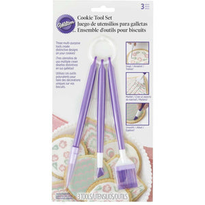 Cookie Decortating Tool 3 Piece Set to Etch, Comb, and Finish Beautiful Cookies - Art Is In Cakes, Bakery & SupplyCookie Decorating ToolsDefault Title