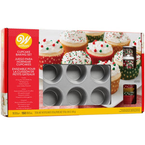 Cupcake Baking Kit for Christmas Including Pans and Other Supplies - Art Is In Cakes, Bakery & SupplyKids in the KitchenDefault Title