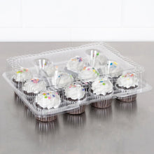 Cupcake Container 12 Count Standard 2 inch Muffin Holder, Hinged Clear - Art Is In Cakes, Bakery & SupplyBoxes and BagsDefault Title