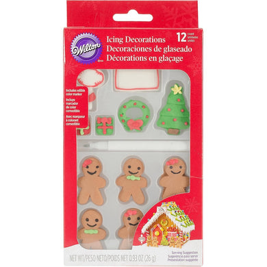 Gingerbread Candy Decorations Gingerbread Family - Art Is In Cakes, Bakery & SupplySprinklesDefault Title