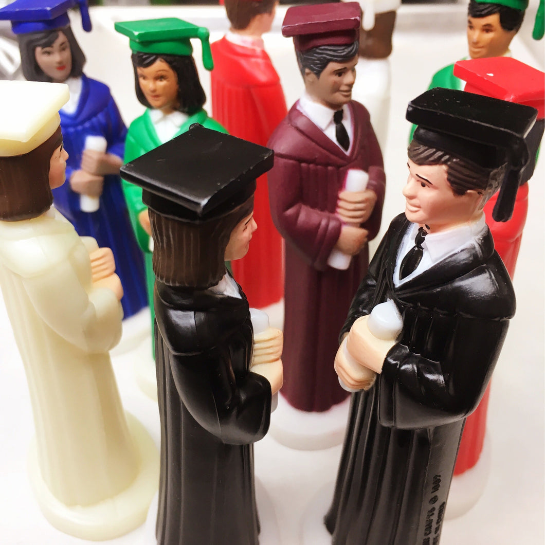 Graduate Retro Figurine for Cake Toppers - Art Is In Cakes, Bakery & SupplyThemed CakesIvory RobeFemaleLight
