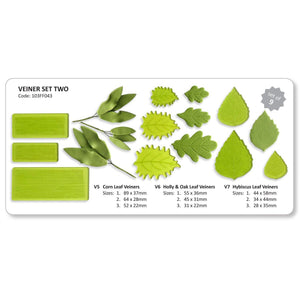 Jem Cutters™ Plastic Leaf Veiners Set Of 9 - Art Is In Cakes, Bakery & SupplyFlower making toolsDefault Title