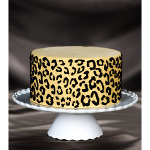 Leopard Silicone Onlay ® – A Highly Fashionable Leopard Print 3D Cake Stencil - Art Is In Cakes, Bakery & SupplyMolds & Impression MatsDefault Title