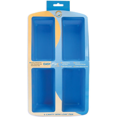 Loaf Pan Easy Flex 4 Cavity Mini Loaf Pan 4.5