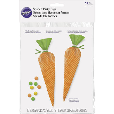Poly Bags Carrot Shaped Easter Party Treat Bags - Art Is In Cakes, Bakery & SupplyBoxes and BagsDefault Title