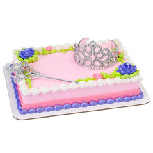 "Princesses Crown / Tiara and Scepter Themed Decoset® for 1/4 Sheet Cake or 8"" Round Cake - Art Is In Cakes, Bakery & SupplyThemed CakesDecoSet®"